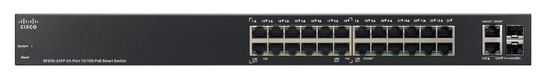 24-Port 10/100 Smart Switch, PoE, 180W