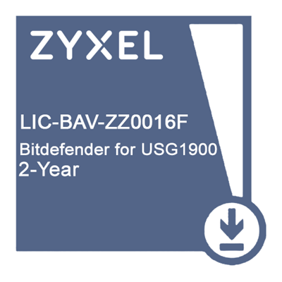 LIC-BAV, 2 YR Gateway Anti-Virus Bitdefender Signature license for USG1900