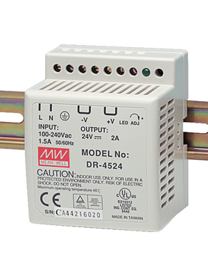 45W/2A, 24 VDC, with universal 85 to 264 VAC input